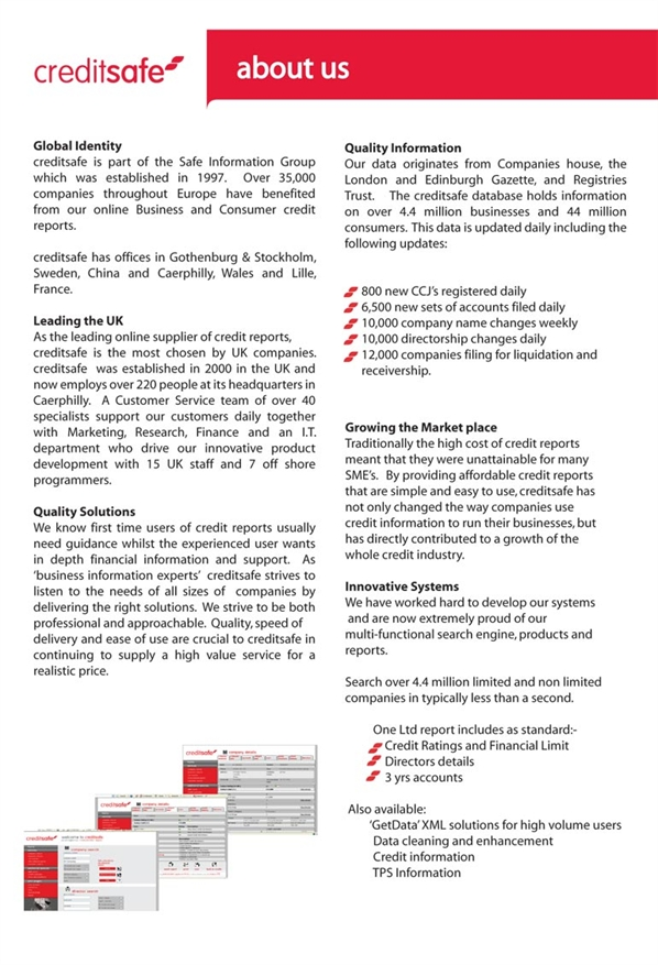 Profile for Creditsafe UK